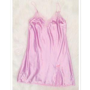 Victoria's Secret Satin Chemise w/ Lace/Gem Trim